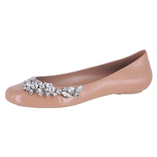 2328a6ecc0e302 Oka-B. Leslie Blush W Side Crystal Womens Ballet Flat Size 10M ...