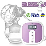 Double Breast Pumps Hospital-Grade Electric Portable with Most Comfortable 45 Levels Personalized Intensity, Super Quiet