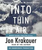 Front cover for the book Into Thin Air: A Personal Account of the Mt. Everest Disaster by Jon Krakauer