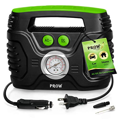 Prow Portable Air Compressor Tire Inflator AC/DC Electric Pump for