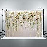 Cdcurtain Bridal Floral Wall Backdrop Wedding 3D Rose 10x8ft Reception Ceremony Photography Background Photo Birthday Party Dessert Table Photo Shoot Backdrop Blush Vinyl Cloth