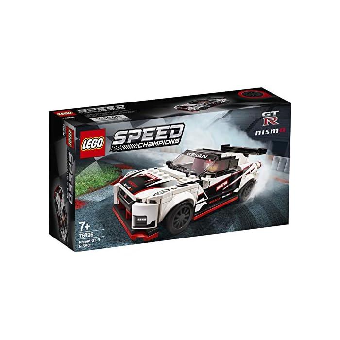 51HrbMllFuL Una oportunidad única de poseer una réplica LEGO con detalles de gran realismo del legendario Nissan GT-R NISMO. Es el regalo perfecto para los apasionados de la construcción de juguetes, ¡y de conducirlos en veloces carreras! El Nissan GT-R NISMO en versión construible y 1 minifigura con mono de competición Nissan. Esta maqueta fascinará a niños y fans de los coches, y les abrirá las puertas tanto al juego independiente como a la posibilidad de organizar carreras con sus amigos. La miniversión del Nissan GT-R NISMO (novedad en enero de 2020) se puede construir y exponer, o usar para competir contra otros coches LEGO Speed Champions.