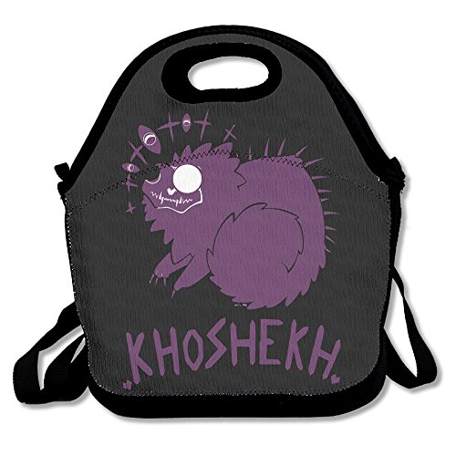 copdsa-welcome-to-night-vale-khoshekh-the-cat-insulated-personalized-tote-lunch-food-bag-black