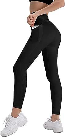 Splendor flying Women's Yoga Capri Legging Inner Pocket Non See-Through Fabric Leggings