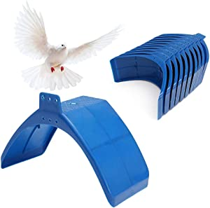 SENNAUX 10/20/30 PCS Dove Rest Stand Frame Pigeon Perches Grill Dwelling Bird Rest Roost Holder