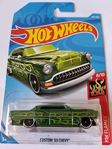 Hot Wheels 2018 Hw Flames 8/10 - Custom '53 Chevy (Green)