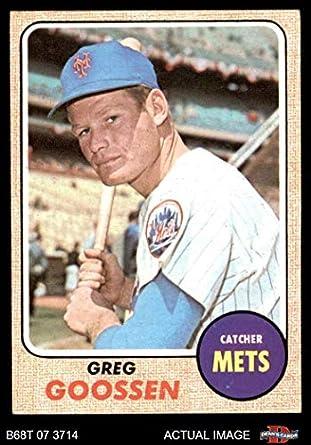 Amazoncom 1968 Topps 386 Greg Goossen New York Mets Baseball