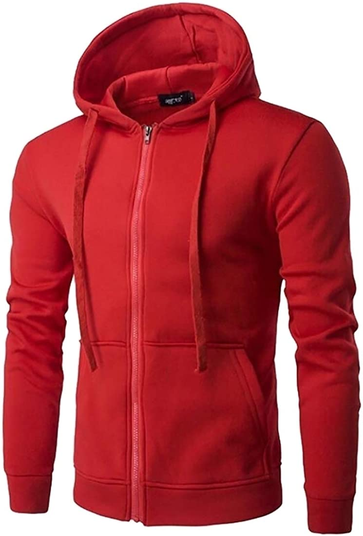 Miracle Men Full Zip Running Outwear Long Sleeve Active Jackets Sports Sweatshirts