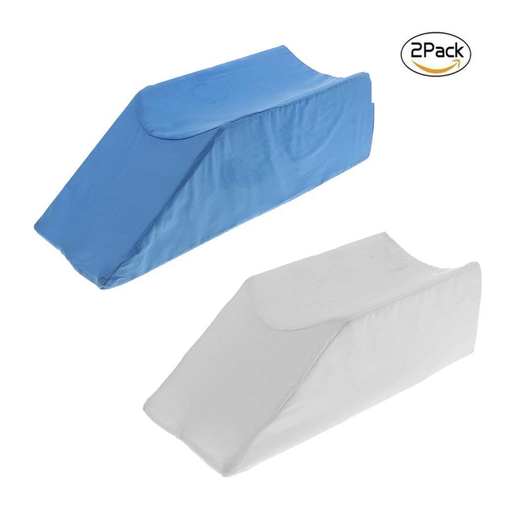 Contour Bed Leg Rest - Foam Leg Elevator Cushion With Washable Cover; Support And Elevation Pillow For Surgery, Injury, Or Rest - 2Pcs [Energy Class A] 445566