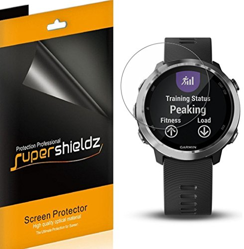 [6-Pack] Supershieldz for Garmin (Forerunner 645 Music) Screen Protector, High Definition Clear Shield + Lifetime Replacement