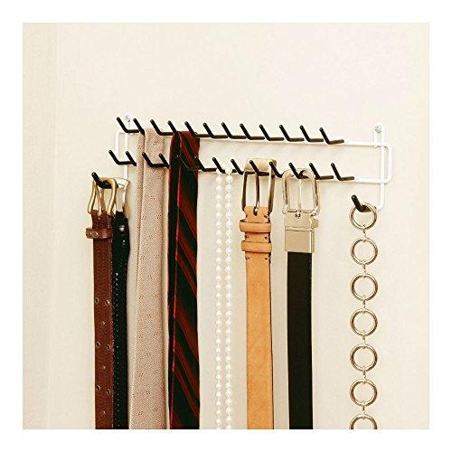 Belt and Tie Rack for Closet Bedroom Office Organization
