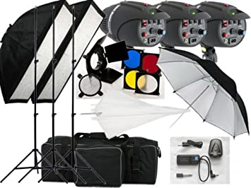 lighting set. 540w studio flash lighting set 3x180w light kit p180a replaceable bulbs uk 1
