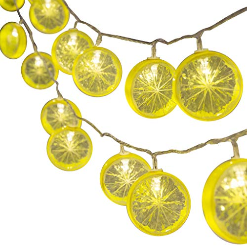 (FEARIE Lemon Slice Decorative Light String Star Net Red Light Ins Style Room Decoration)