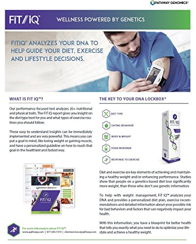 Pathway Genomics FiT iQ™ | At-Home Genetic and DNA Test Kit | Improve and Enable Proactive Diet, Exercise and Lifestyle Decisions | Includes Personal Health and Fitness Assessment by iQ Products (Image #3)