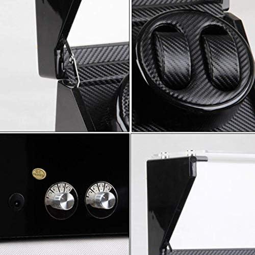 、色名:Black:デコレーションギフトウォッチワインダーウォッチワインダーボックス機械式時計は、ボックスワインダー回転電気ウォッチボックスウォッチワインダー(ブラックカラー)の巻 (Color : Black)