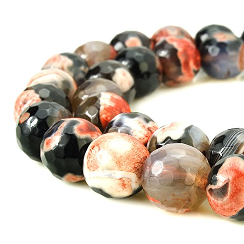 BEADNOVA 12mm Faceted Natural Orange Fir - Faceted Natural Agate Shopping Results