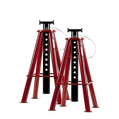 Sunex 1410 10-Ton, High Height, Pin Type, Jack Stands, Pair - Power Tool Stands - .com