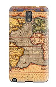 High-quality Durable Protection Case For Galaxy Note 3(map)