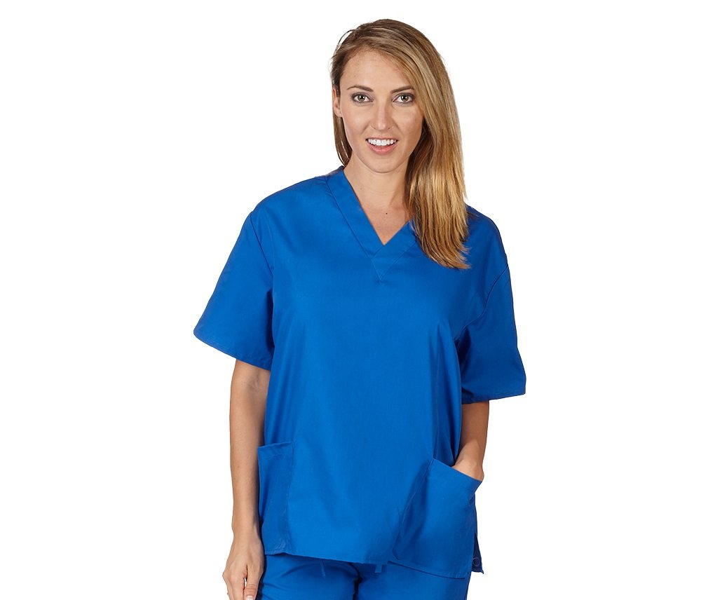 NATURAL UNIFORMS Women's Scrub Top Medical Scrub Top XXXL ROYAL BLUE