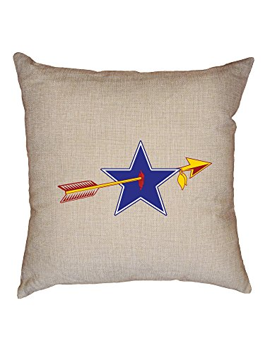 Hollywood Thread Classic RedSkin vs Cowboy Rivalry Game Decorative Linen Throw Cushion Pillow Case with Insert -