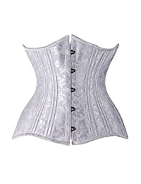 Women Plus Size Double Steel Boned Underbust Waist Slimming Corset and Bustiers
