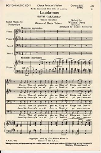 Laudamus (Bryn Calfaria) (Welsh Chorale) Sheet Music TTBB
