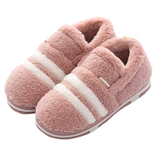 Caldo Di Pavimento capacità Huyp Femminile Dell'interno Pantofole 39 Cotone Rosso Strisce Inverno A Antisdrucciolevole Legno q8F5wBBxE