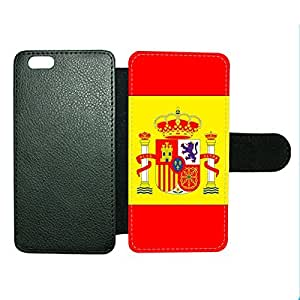 Case Fun Case Fun Flag of Spain Faux Leather Wallet Case Cover for Apple iPhone 6 4.7 inch