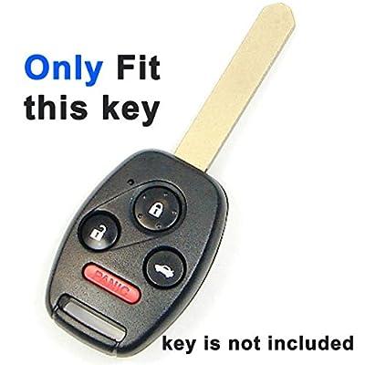 Alegender Genuine Leather Key Fob Cover Bag Protector Remote Jacket Holder Fit for Honda 3+1 Buttons CRV Accord Civic Polit Head Key: Automotive