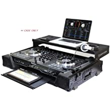 Odyssey Cases FZGSNS7IIWGTBL | Brand New Black Label Numark NS7II DJ Controller Glide Style Case with Lower GT Glide Tray