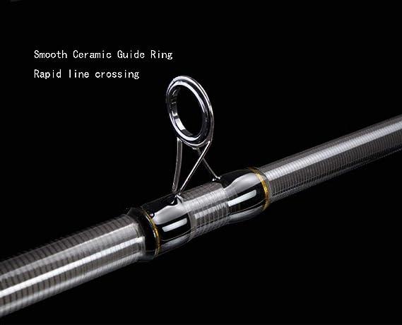 Canna da Pesca in Fibra di Carbonio Strumento da Pesca Portatile telescopico Regolabile Super Duro Dimensioni : 2.4m 2.4m-5.4m Grigio