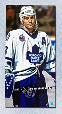 Doug Gilmour Toronto Maple Leafs Autographed Bloody Warrior 14x28 Art Canvas - Autographed NHL Art