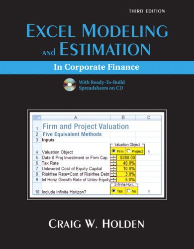 Download Excel Modeling and Estimation in Corporate Finance ebook