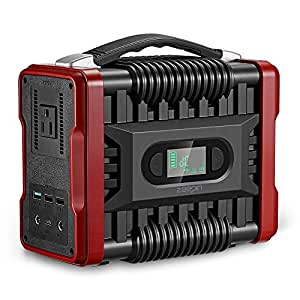 ZEEPIN Portable Power Station Generator, 222Wh Emergency Backup Lithium Battery with 110V/200W(Peak 320W) AC Outlet LED Flashlights Great Solar Generator for CPAP Outdoors Travel Camping Fishing