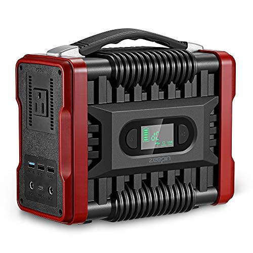 ZEEPIN Portable Power Station Generator, 222Wh Emergency Backup Lithium Battery with 110V/200W(Peak 320W)AC Outlet LED Flashlights Great Solar Generator for CPAP Outdoors Travel Camping Fishing