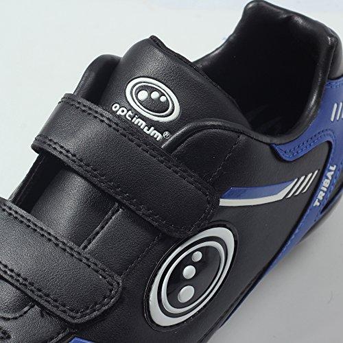 Optimum Tribal Velcro 6 Stud, Botas de Fútbol Para Niños Negro (Black/Blue)