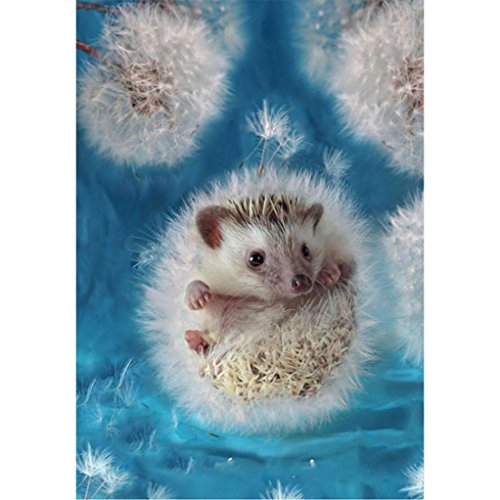 Cinhent Diamond Painting, 5D DIY Embroidery Cross Stitch Craft, Home/Office Wall Setting, 30 x 40 cm, Life Arts, Dandelion and Small Hedgehog, Shining and Amazing ()
