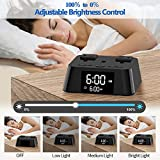 Alarm Clock Charger with 3 USB Ports and 2