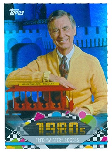 Mister Rogers trading card 2011 Topps #154 Refractor Special Edition (Special Card Autographed Edition)