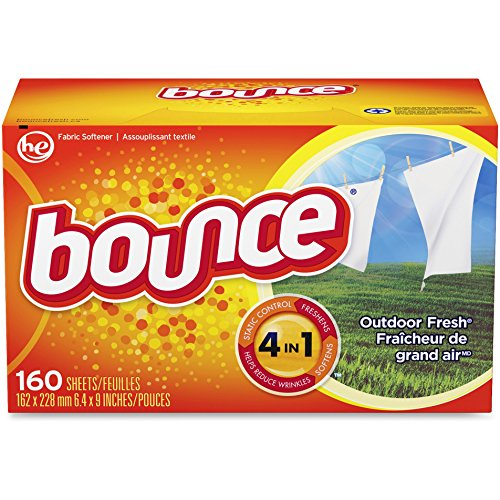 Bounce 80168 Bounce Dryer Sheets, 160/BX, Outdoor (Procter And Gamble Bounce Fabric)