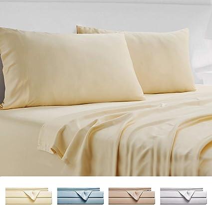 Gokotta Bamboo Sheets Queen Size Sheets   100% Organic Bamboo