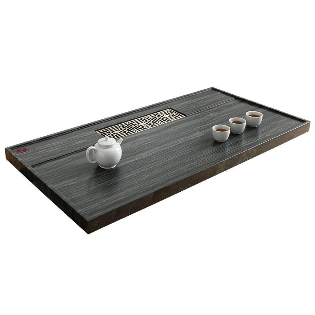Tea tray Natural Ebony Living Room Home Creative Stone Tea Table Simple Japanese Tea Ceremony Tea Sea Convenient Drainage (Size : 80x40x3cm) by Tea tray