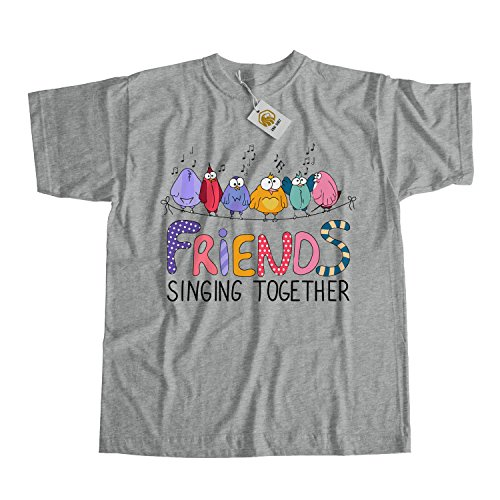 Birds Singing on Wire Friendship T-shirt, Shirt for Friends with Birds on Wire