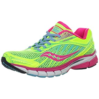 Saucony Women's Ride 6 Running Shoe,Citron/Pink/Blue,8 M US