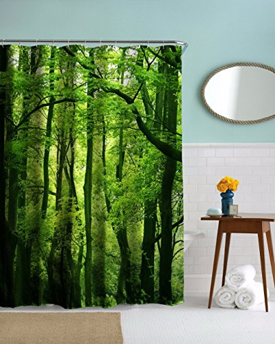 A.Monamour Nature Scenery Green Trees Forest Picture Prin...