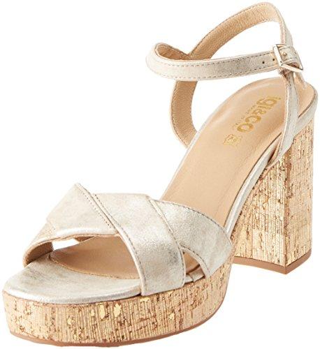 IGI Dad Oro Chiaro 11862 Open Silver 22 Sandals Toe Women's rSFwqr