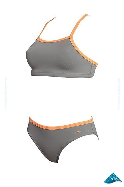4de8a3f36674 Bikini modelador para entrenamiento de natación Kronos gris - Bikini ...