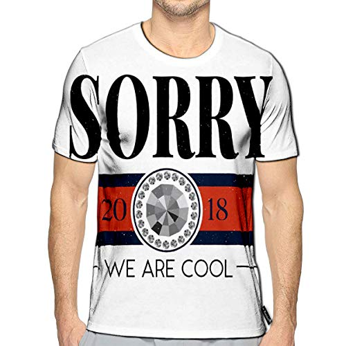 Randell 3D Printed T-Shirts Slogan Sorry Short Sleeve Tops Tees (Top 100 Slogans On Environment For All Occasions)