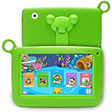 YELLYOUTH 7 Inch Kids Tablet PC Android 1280x800 IPS HD Display with Parental Control Software Wifi and Camera 3D Games Video Supported RAM 1GB ROM 8GB for Education Learning Phablet (Green)