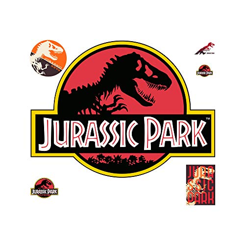FATHEAD Jurassic Park: Classic Logo-Giant Officially Licensed Removable Wall Decal ()